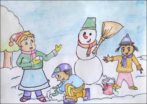 堆雪人作文200字