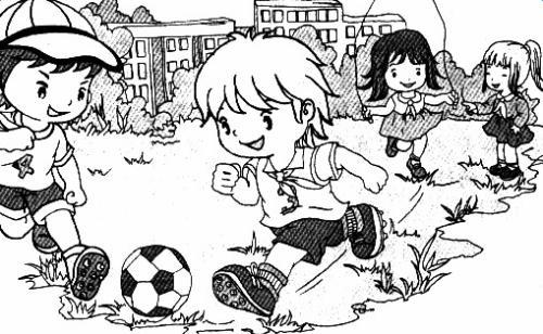 踢足球 几个小朋友踢足球 跳绳