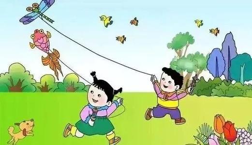 小学看图写话作文:放风筝